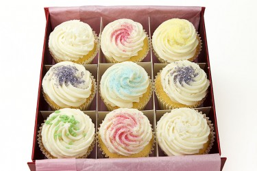 Vanilla Cupcakes - Gift Box of 9