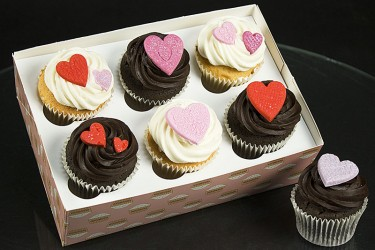 Sweetheart Cupcakes - Box of 6
