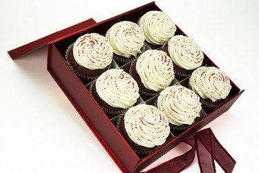 Red Velvet Cupcakes - Gift Box of 9