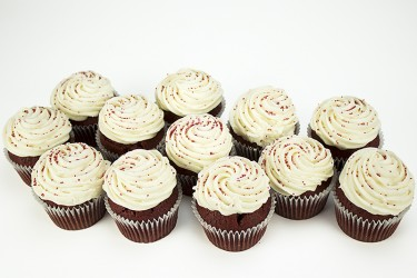 Red Velvet Cupcakes - Gift Box of 16