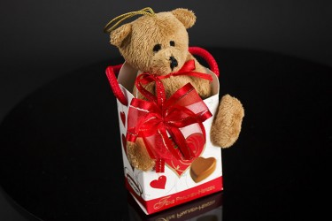 Add a Teddy in a Bag with Chocolate Pralines