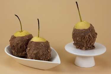 4 Hand Dipped Pears in Chocolate