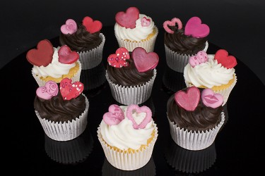 Valentines Day Cupcakes - Box of 9