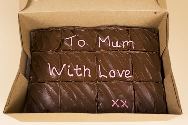 Your Message Brownie Box