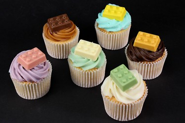 Lego Brick Cupcakes - Box of 6