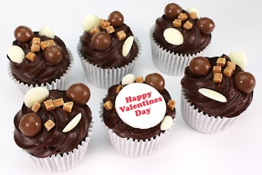Personalised Malteser Cupcakes - Box of 6