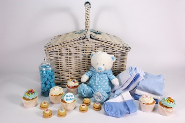 New Baby Picnic Basket Gift