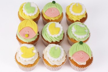 Baby Shower Cupcakes - Box of 9