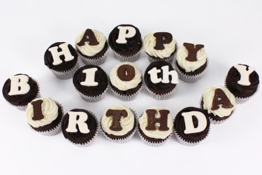 Your Message Chocolate Cupcakes