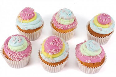 Satin Finish Rainbow Cupcakes - Box of 6