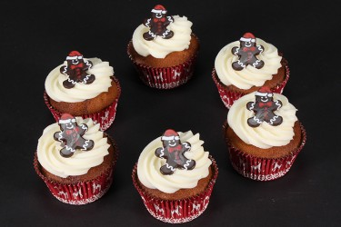 Gingerbread Santa Cupcakes - Box 9