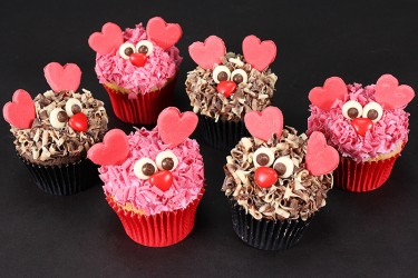 His n Hers Love Monster Cupcakes - Box of 6