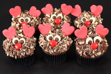 For Him Love Monster Cupcakes - Box of 6