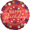 Red Satin Happy Birthday Balloon
