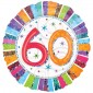 Radiant 60th Birthday Balloon