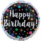 Holographic Polka Dot Birthday Balloon