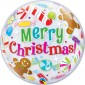 Merry Christmas Bubbles Balloon