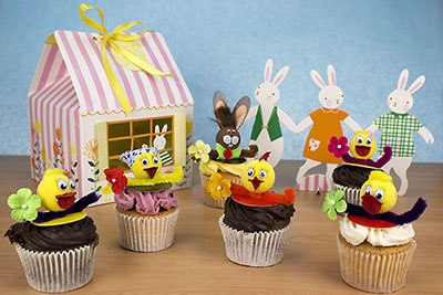 Easter Bunny Box of 4 Cupcakes
